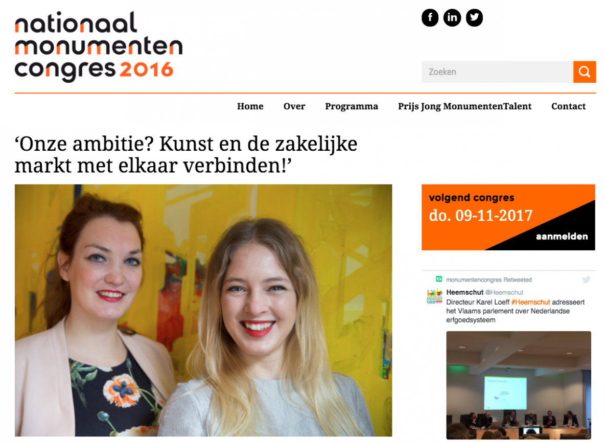 FayeEllen and SiobhanBurger - Monumentencongres2016