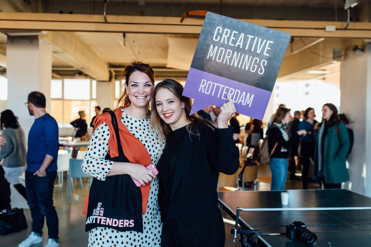 Speaking at Creative Mornings for Rotterdam Chapter organization