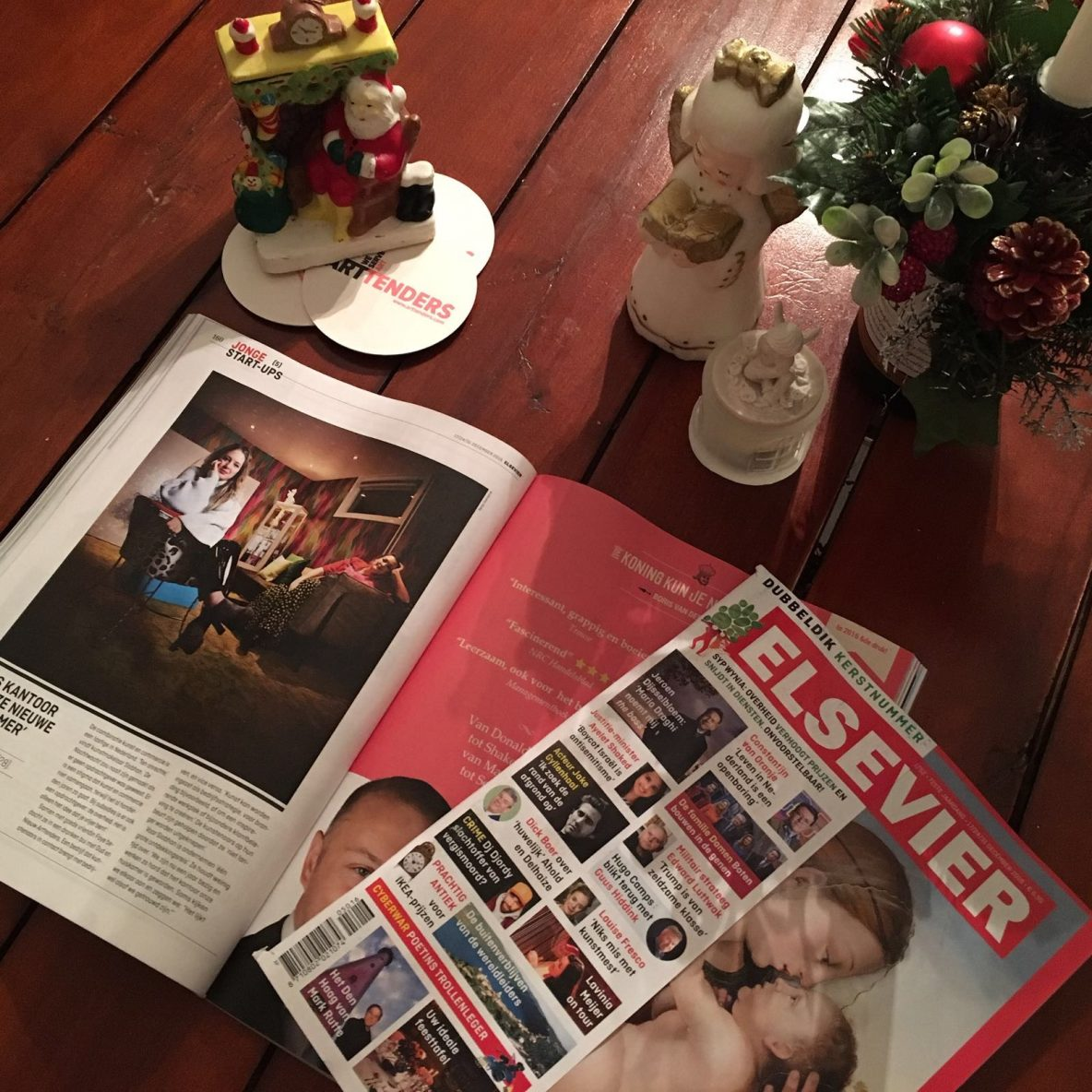 Arttenders' founders Siobhan Burger and Faye Ellen are featured in the special Christmas edition of Elsevier.