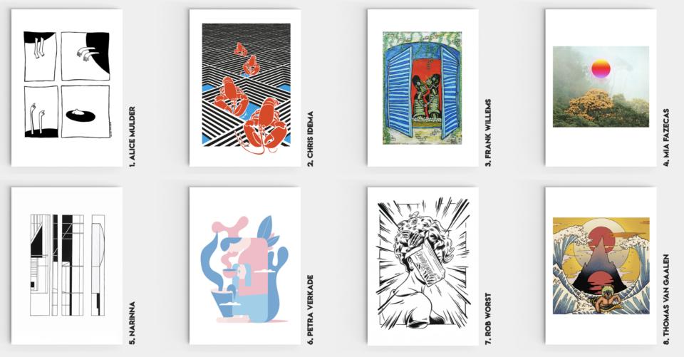 Venster - Art Postcards