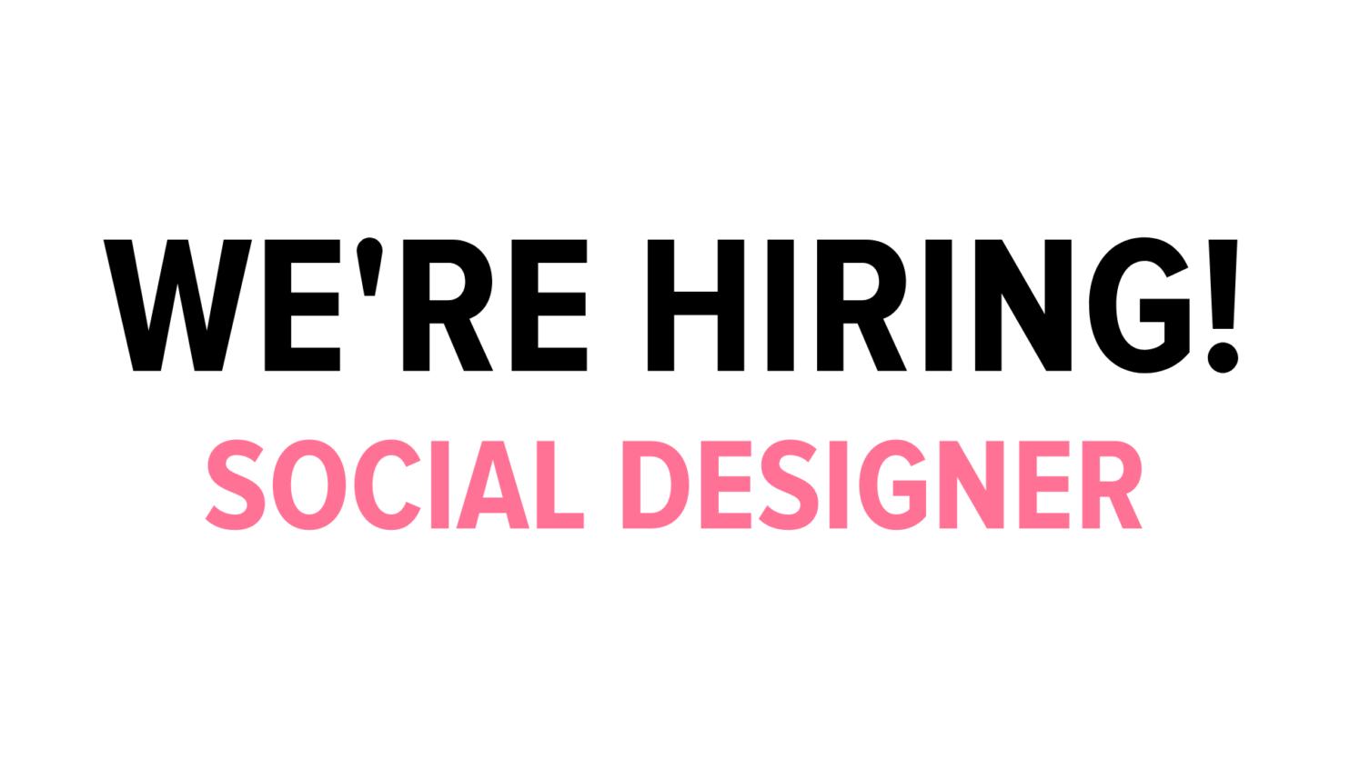 Arttenders social designer vacancy