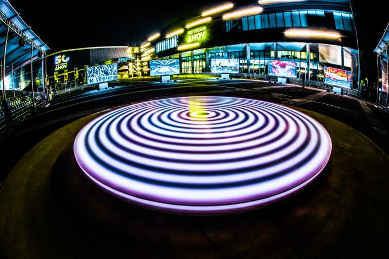Dancing on light art
